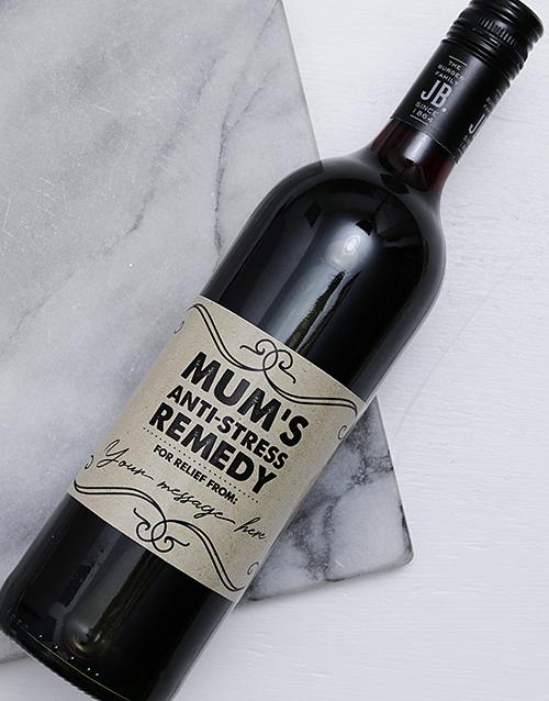 Anti Stress Mom Personalised Wine