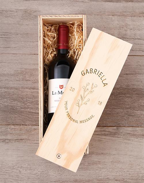 Regal Personalised Wine Crate