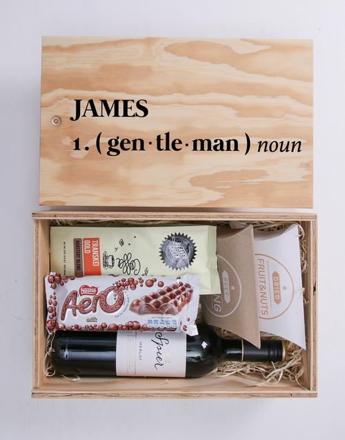 Gentleman Man Crate Personalised Gift