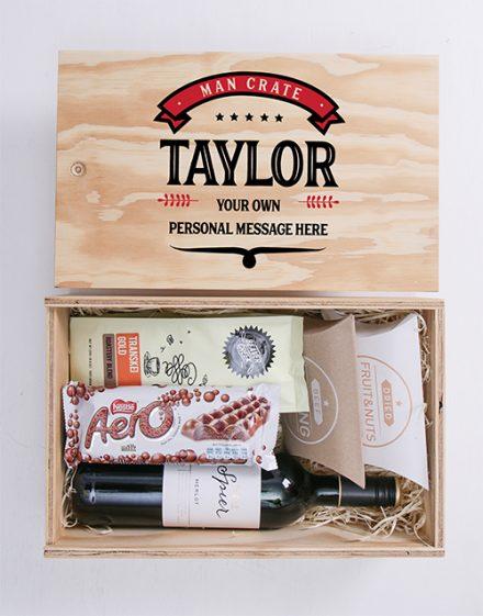 Vintage Man Crate Personalised Gift