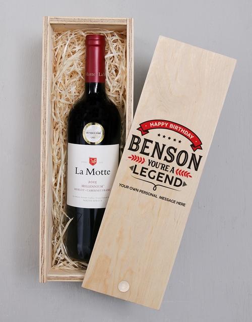 Legend Printed Personalised Wine Crate