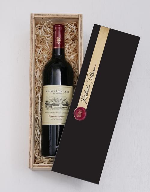Wax Seal Printed Personalised Wine Crate