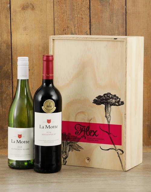 Rose Printed Duo Personalised Wine Crate