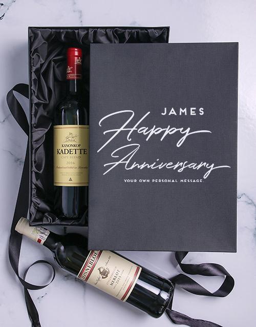 Anniversary Personalised Wine Duo Giftbox