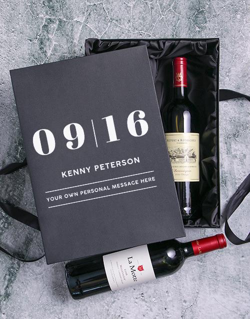 Date Personalised Wine Duo Giftbox