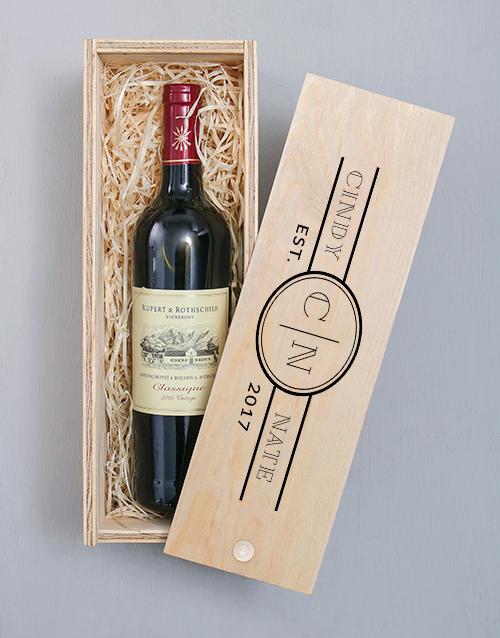 Anniversary Printed Personalised Wine Crate