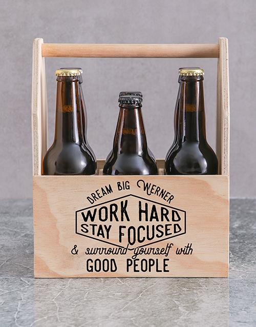 Good People Printed Beer Crate Personalised Gift