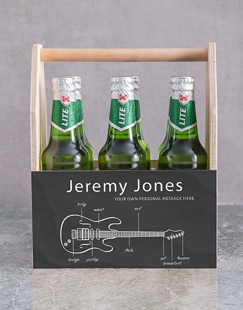 Fender Printed Beer Crate Personalised Gift