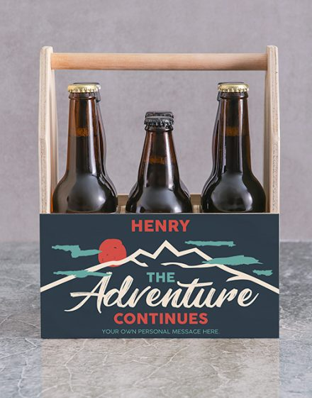 Adventure Printed Beer Crate Personalised Gift
