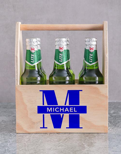Initial Printed Beer Crate Personalised Gift