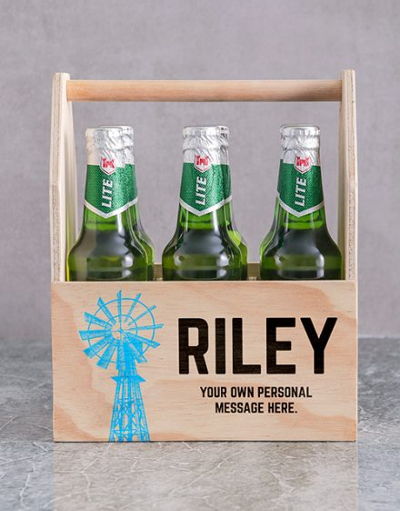 Karoo Printed Beer Crate Personalised Gift