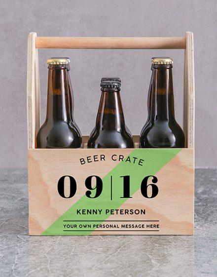 Printed Beer Crate Personalised Gift