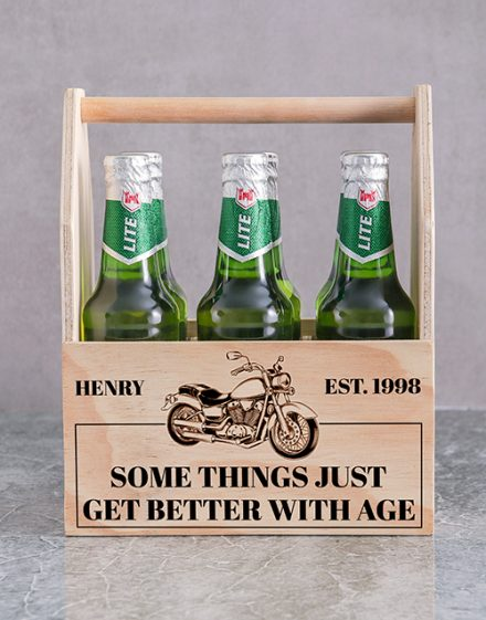 Harley Printed Beer Crate Personalised Gift