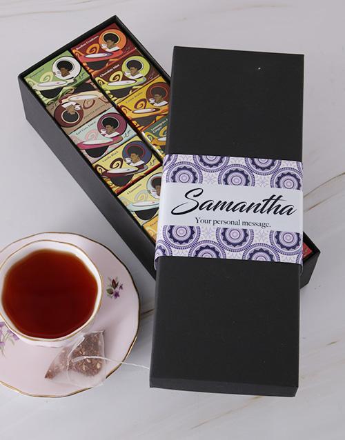 Toni Glass Personalised Tea Box