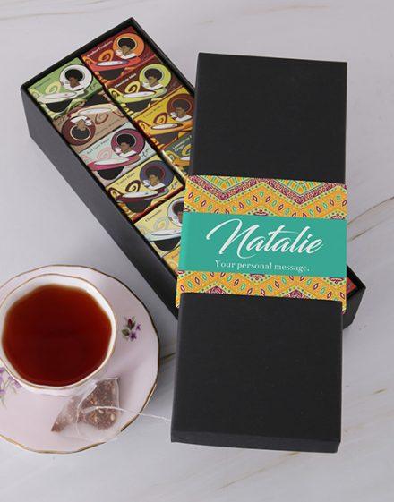 Zig Zag Toni Glass Personalised Tea