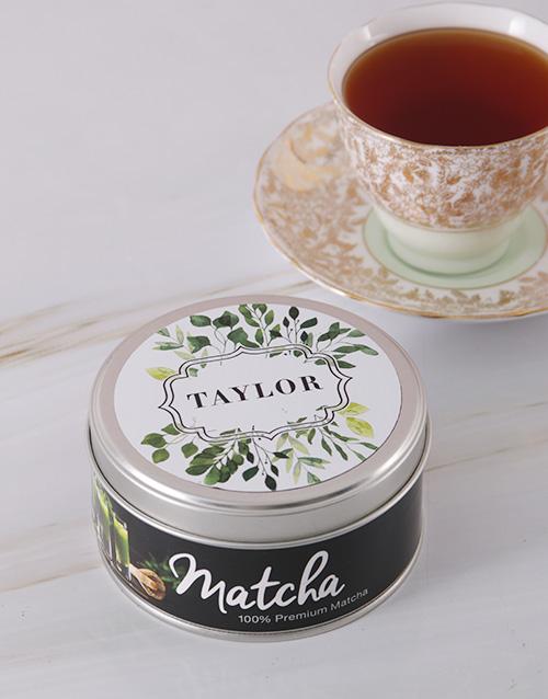 Botanical Matcha Personalised Tea Gift Tin