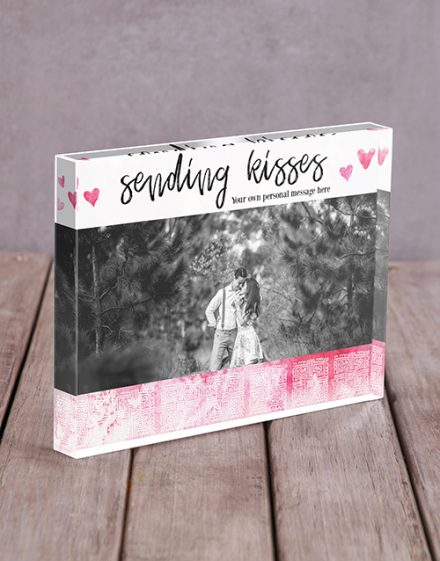 Sending Kisses Acrylic Block Personalised By You