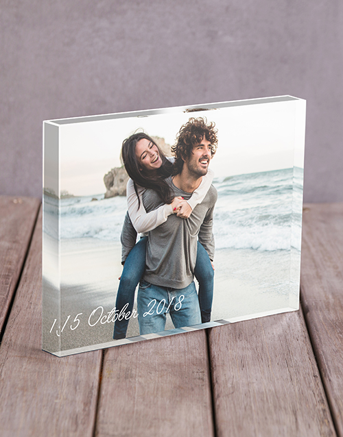 Date Acrylic Block Personalised By You