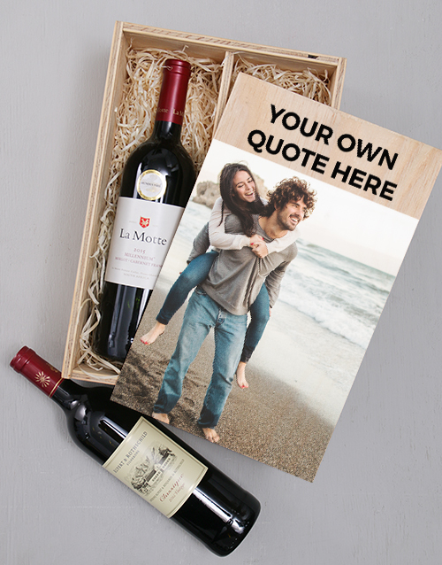 Photo Duo Personalised Wine Crate