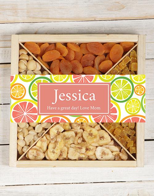 Personalised Fruit & Nut Tray
