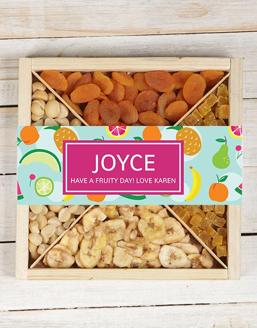 Personalised Mixed Fruit & Nut Tray