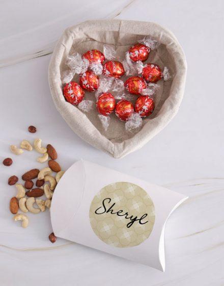 Personalised Choc And Nut Basket