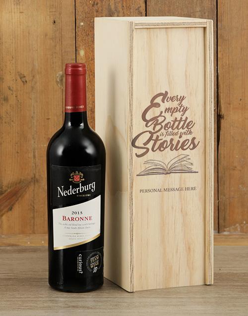 Bottle Stories Nederburg Personalised Wine Crate
