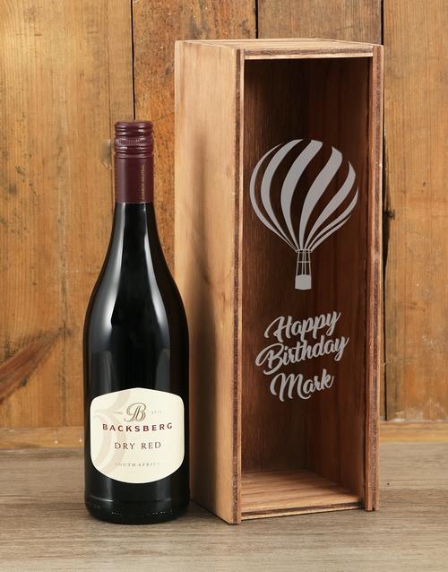 Birthday Backsberg Red Personalised Wine Crate