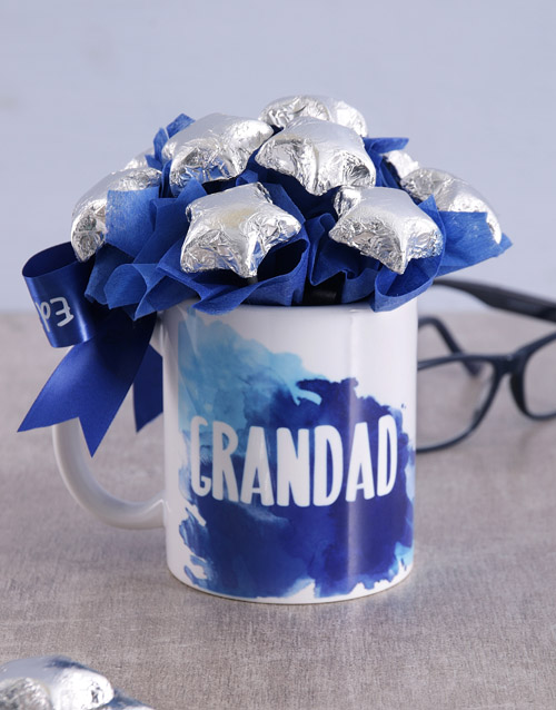 Star Grandad Arrangement in Mug