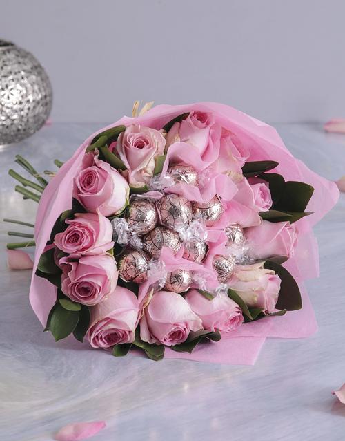 Pink Rosy Chocolate Arrangement