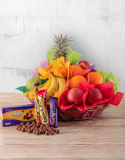 Fresh Fruit and Sweet Treats Basket