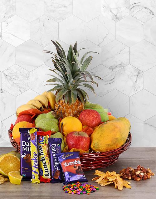 Fresh Fruit and Cadbury Chocolate Basket
