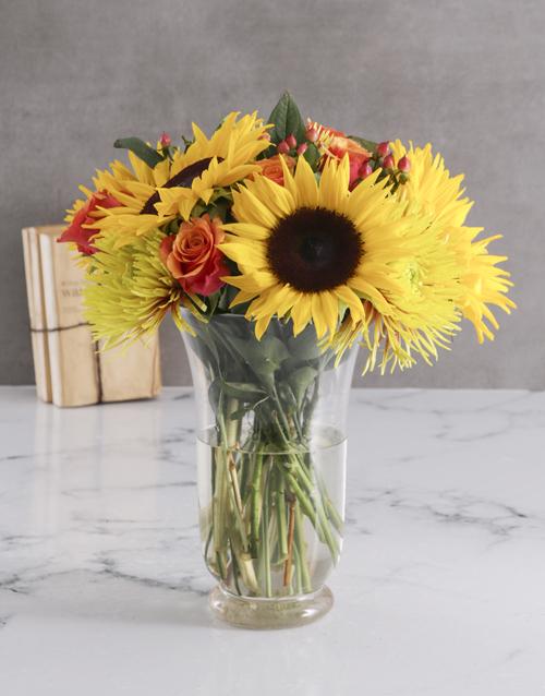 Sunflower Harvest Vase