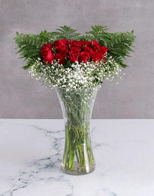 Starry Red Rose Arrangement