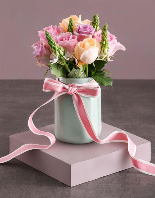 Pastel Rose Delight Arrangement