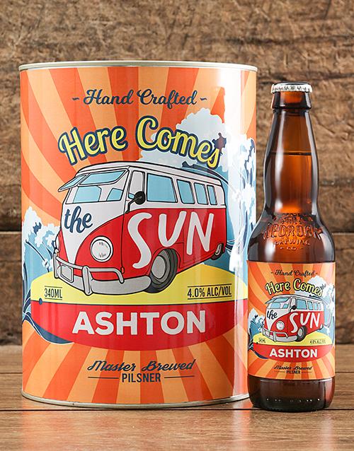 Personalised Here Comes Craft Beer
