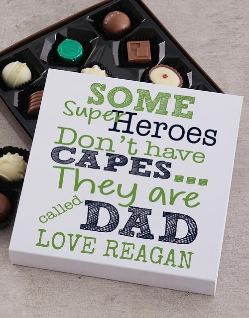 Hero Dad Personalised Choc Tray