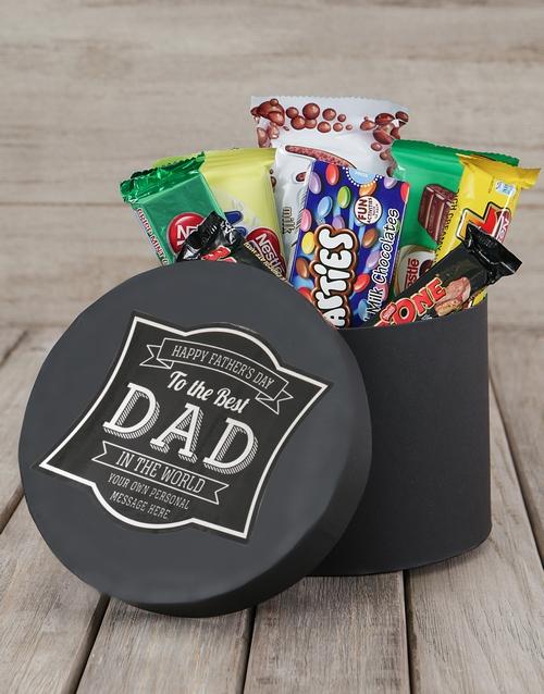 Best Dad Personalised Choc Hat Box