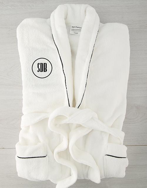 Circle Monogram Personalised Fleece Gown