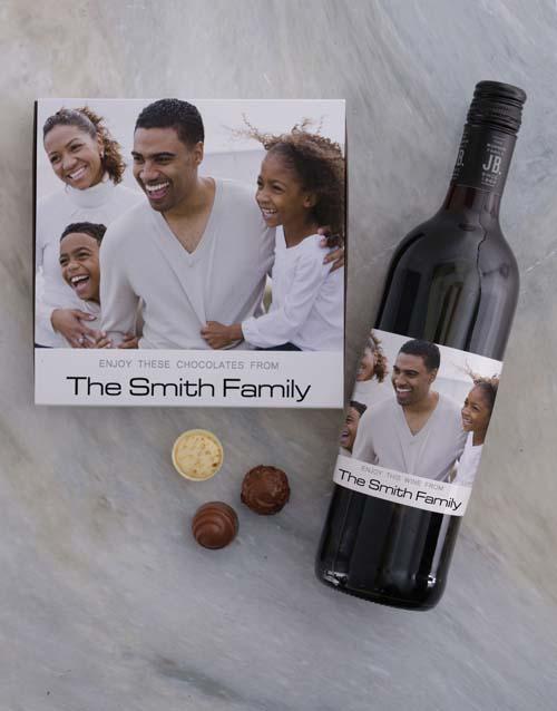 Family Photo Personalised Choc Tray