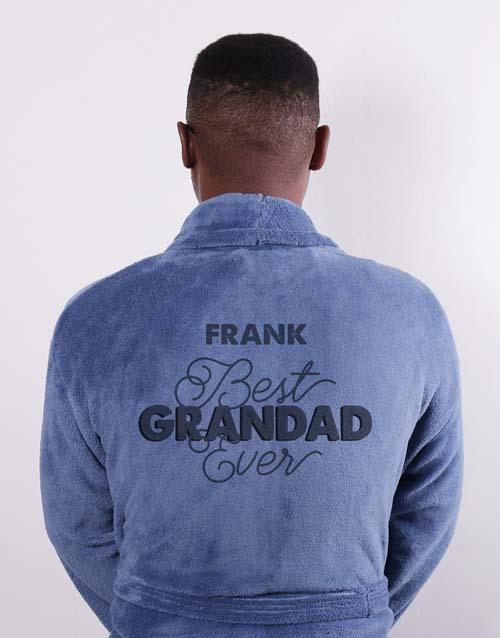 Best Grandad Blue Personalised Gown