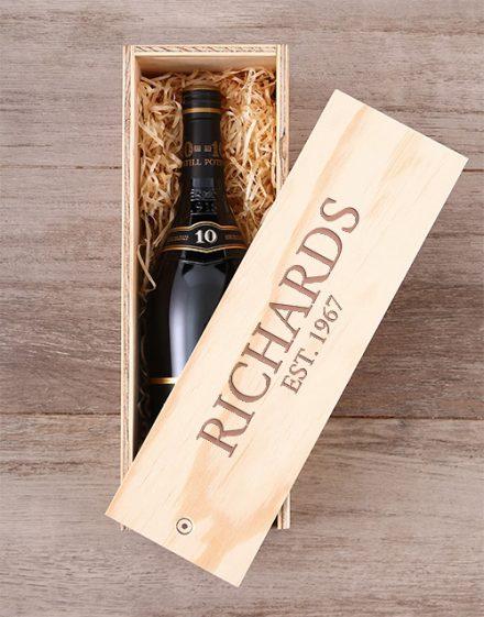 Personalised KWV Brandy Crate