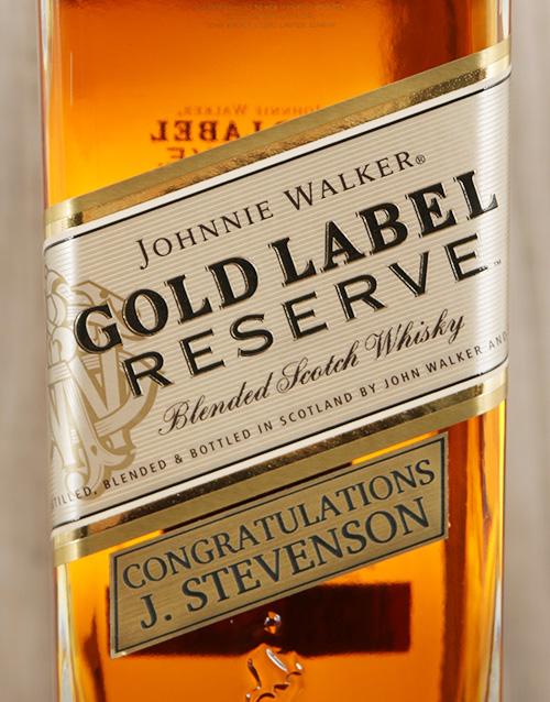 Personalised Johnnie Walker Gold Reserve