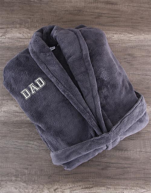 Charcoal Fleece Robe for Dad