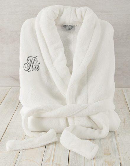 His White Fleece Gown