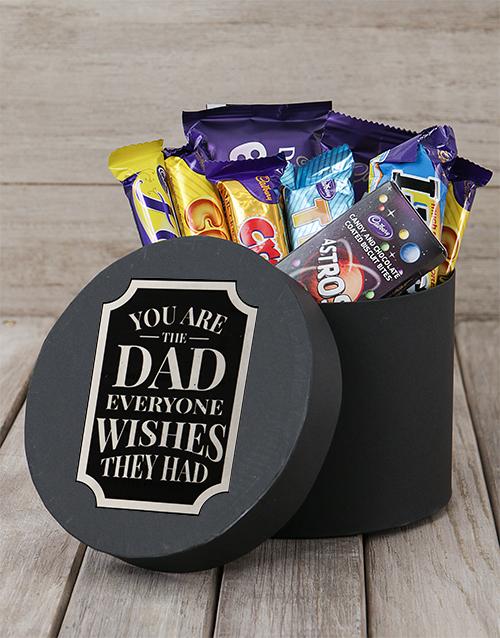 "Chocolate ""Wishful Dad"" Gift Hat Box"
