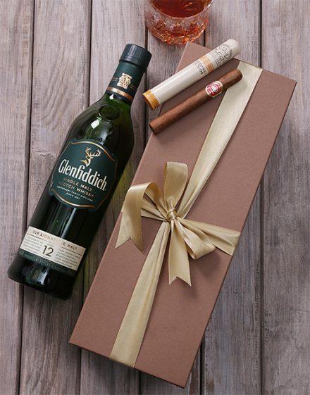Glenffidich and Cuban Cigar Giftbox