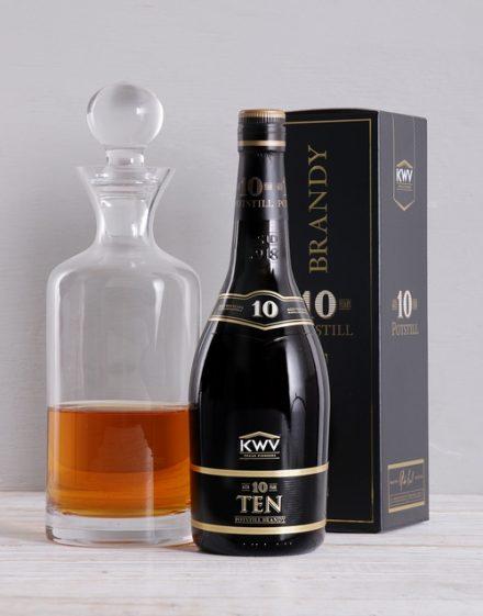 KWV 10yr and Decanter Gift
