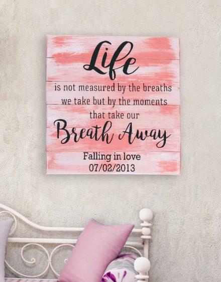 Personalised Breath Away Wall Art