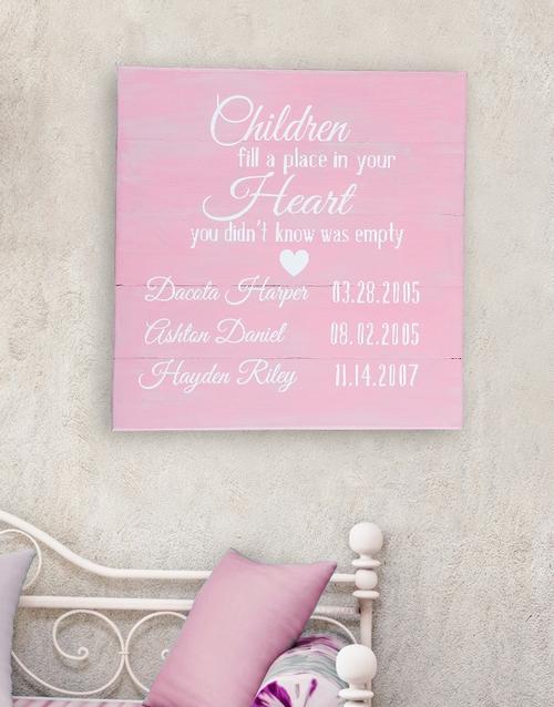 Personalised Children Birth Dates Wall Art